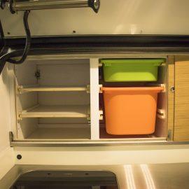 Plenty of storage in these ergonomically designed drawers.