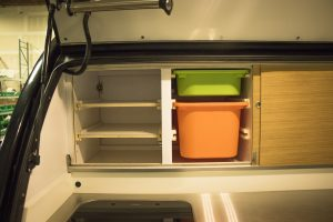 Plenty of storage in these ergonomically designed drawers.
