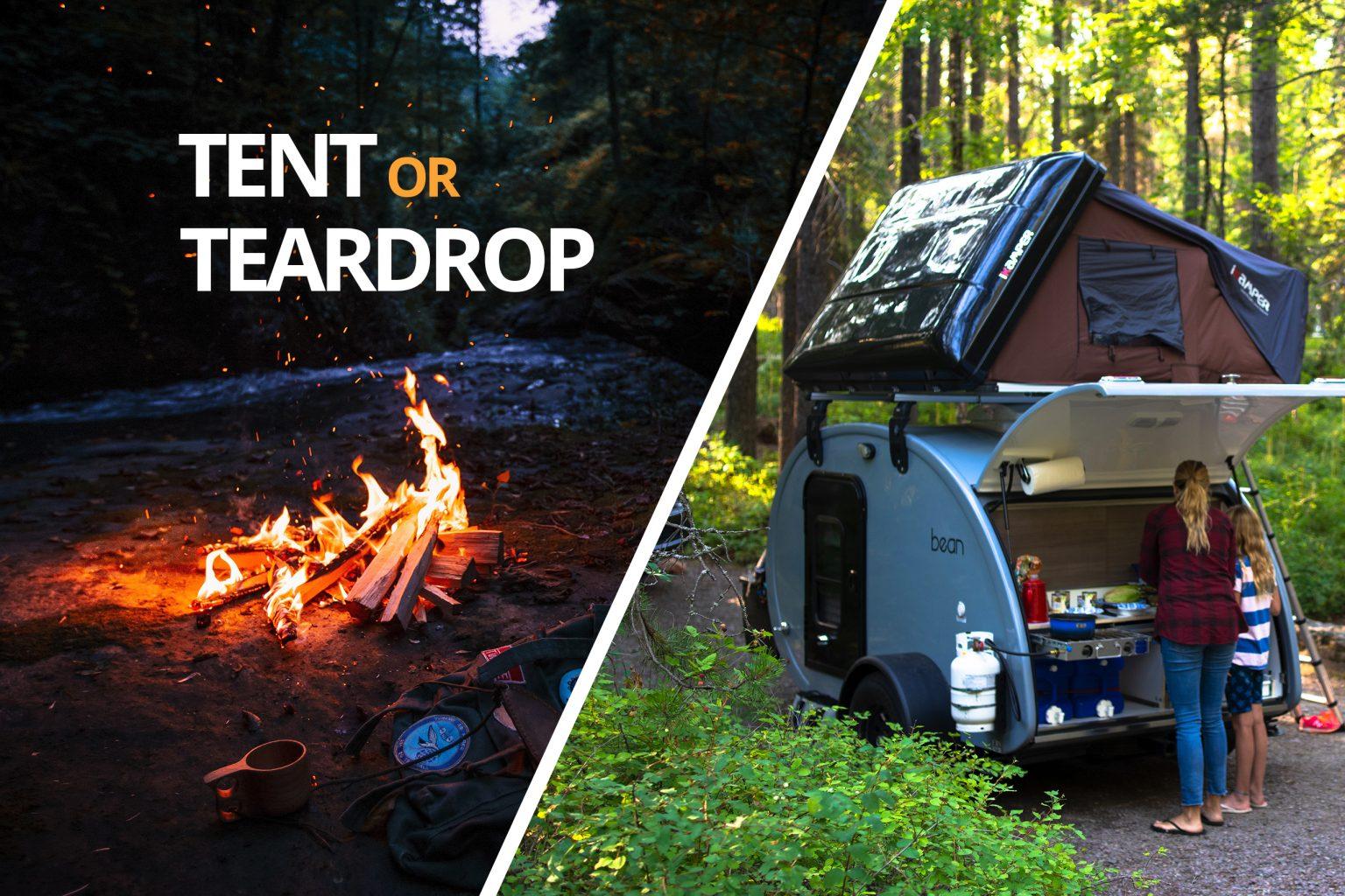 Teardrop Trailer Camping vs. Tent Camping   Bean Trailer