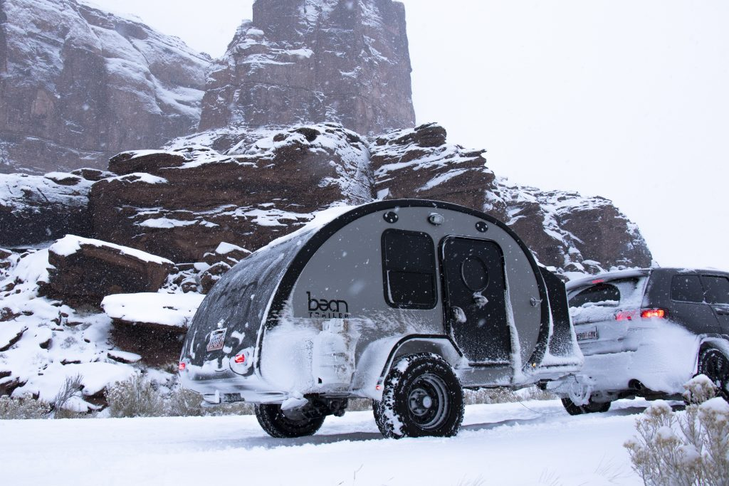 Winter camping in Moab with Bean Trailer