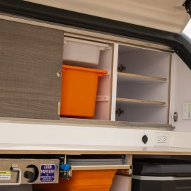Storage space for food and other essentials.