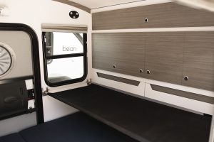 Bunk option for small children, dogs, or extra storage space.