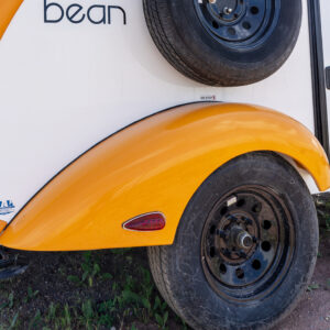 Fiberglass sculpted fender with Kenda Karrier tires.